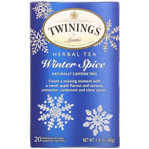 Twinings, Herbal Tea, Winter Spice, Caffeine Free, 20 Tea Bags, 1.41 oz (40 g) Review