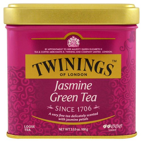 Twinings, Jasmine Green, Loose Tea, 3.53 oz (100 g) Review