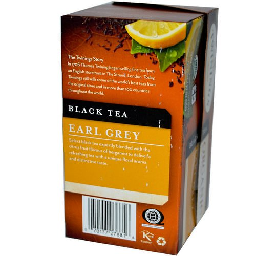 Twinings, Organic Black Tea, Earl Grey, 20 Tea Bags, 1.27 oz (36 g) Review