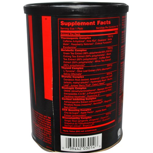 Universal Nutrition, Animal Cuts, Ripped & Peeled, Training Supplement, 42 Packs Review