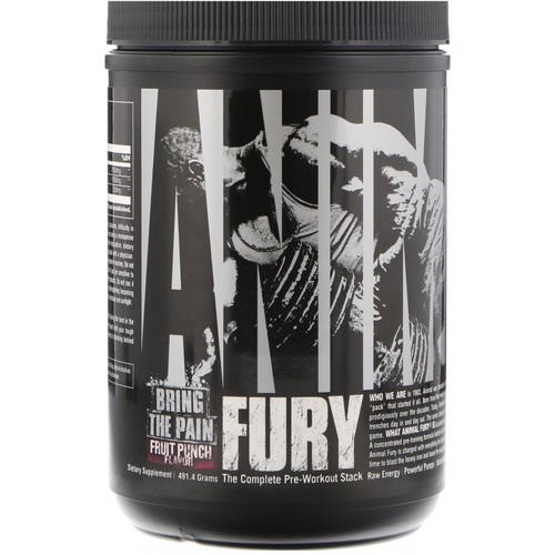 Universal Nutrition, Animal Fury, Fruit Punch, 491.4 g Review