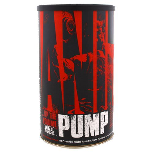 Universal Nutrition, Animal Pump, The Preworkout Muscle Volumizing Stack, 30 Packs Review