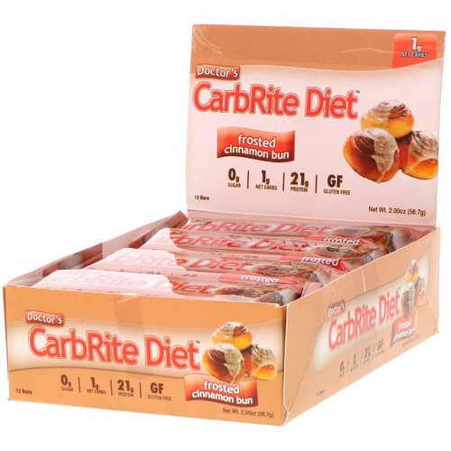 Universal Nutrition, Doctor's CarbRite Diet, Frosted Cinnamon Bun, 12 Bars, 2.00 oz (56.7 g) Each Review
