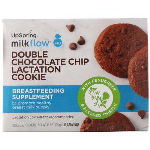 UpSpring, Milkflow, Lactation Cookies, Double Chocolate Chip, 10 Packets, 2 Cookies Each Review