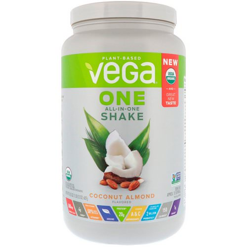 Vega, One, All-In-One Shake, Coconut Almond, 1.5 lbs (687 g) Review