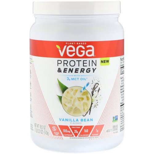 Vega, Protein & Energy, Vanilla Bean, 1.1 lbs (510 g) Review