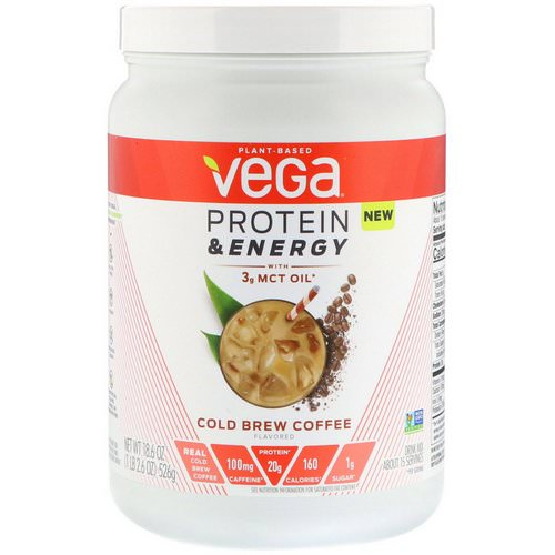 Vega, Protein & Energy, Cold Brew Coffee, 1.2 lbs (526 g) Review