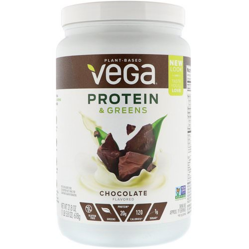 Vega, Protein & Greens, Chocolate Flavored, 1.36 lbs (618 g) Review