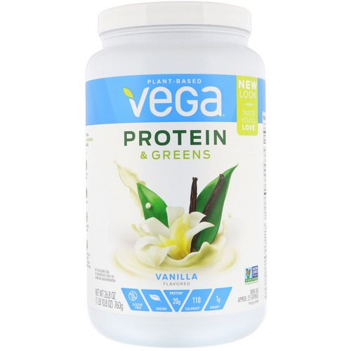 Vega, Protein & Greens, Vanilla Flavored, 1.67 lbs (760 g) Review