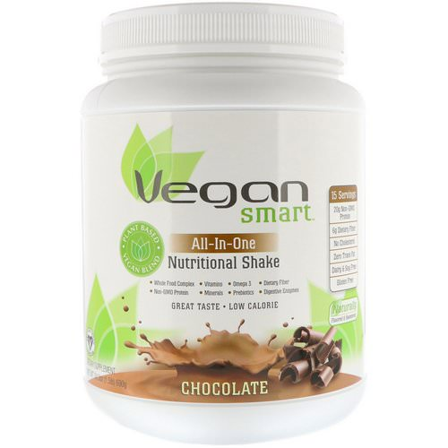 VeganSmart, All-In-One Nutritional Shake, Chocolate, 1.51 lbs (690 g) Review