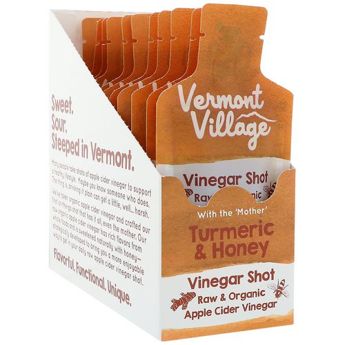 Vermont Village, Organic, Apple Cider Vinegar Shot, Turmeric & Honey, 12 Pouches, 1 oz (28 g) Each Review