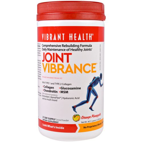 Vibrant Health, Joint Vibrance, Version 4.3, Orange Pineapple, 12.96 oz (367.5 g) Review