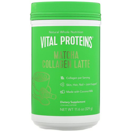 Vital Proteins, Matcha Collagen Latte, Unflavored, 11.6 oz (329 g) Review