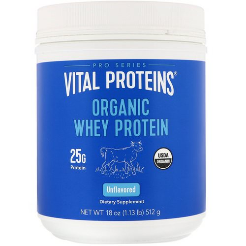 Vital Proteins, Organic Whey Protein, Unflavored, 1.1 lbs (512 g) Review