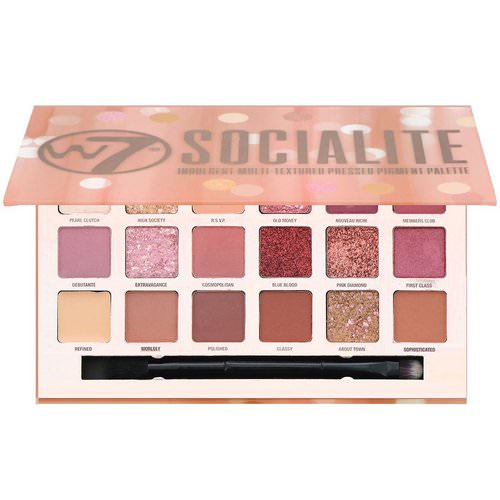 W7, Socialite, Indulgent Multi-Textured Pressed Pigment Palette, 0.59 oz (17 g) Review