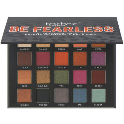 W7, Technic, Limited Edition, Be Fearless, Eye Shadow Palette, 0.56 oz (16 g) Review