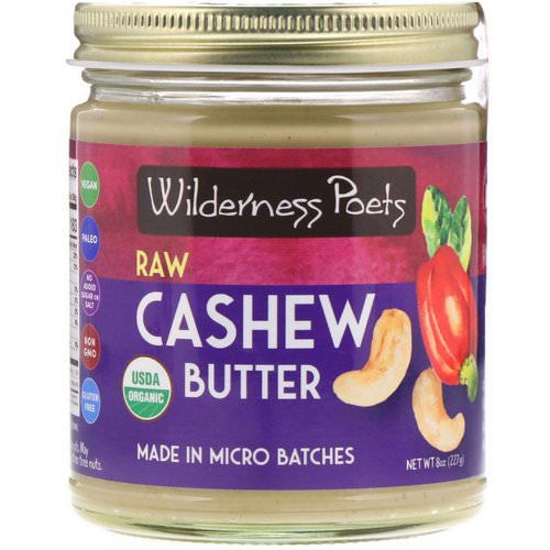 Wilderness Poets, Raw Cashew Butter, 8 oz (227 g) Review