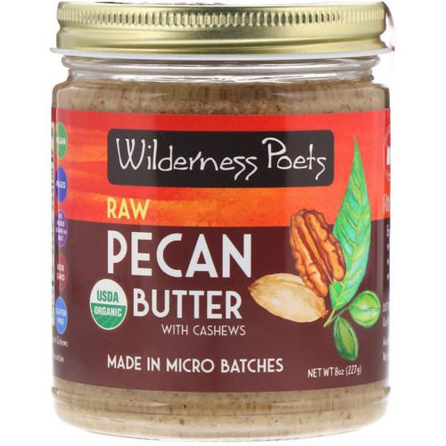 Wilderness Poets, Organic Raw Pecan Butter with Cashews, 8 oz (227 g) Review