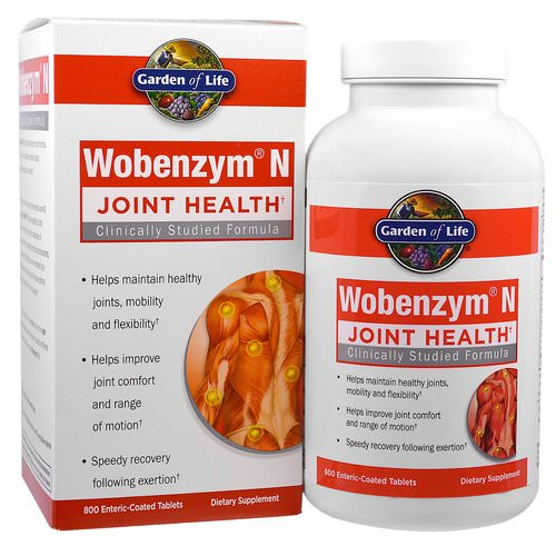 Wobenzym N, Joint Health, 800 Enteric-Coated Tablets Review