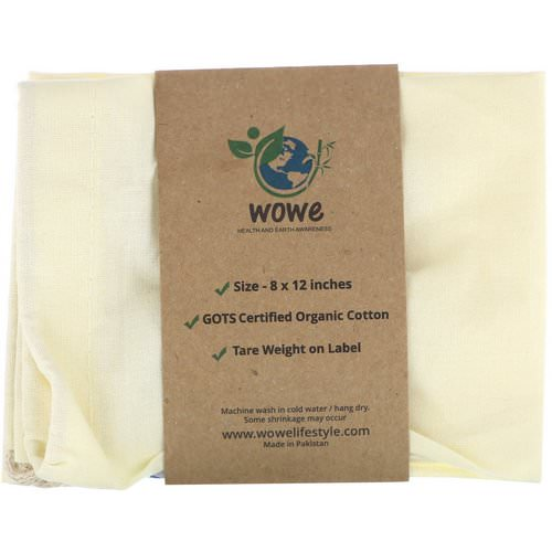 Wowe, Certified Organic Cotton Muslin Bag, 1 Bag, 8 in x 12 in Review
