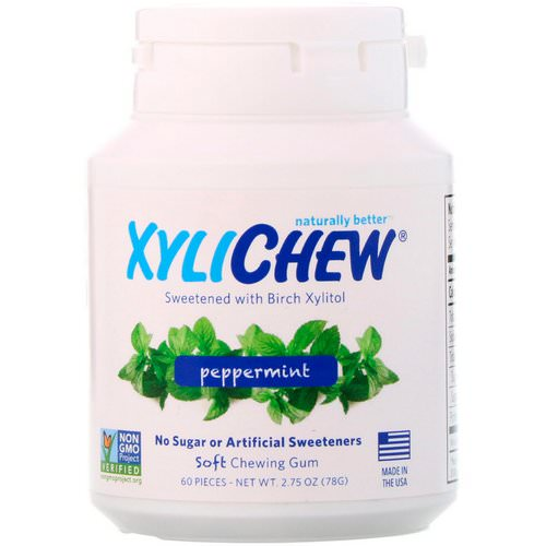 Xylichew, Sweetened with Birch Xylitol, Peppermint, 60 Pieces, 2.75 oz (78 g) Review
