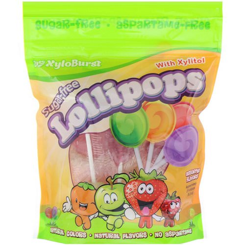 Xyloburst, Sugar-Free Lollipops with Xylitol, Assorted Flavors, Approximately 25 Lollipops (9.3 oz) Review