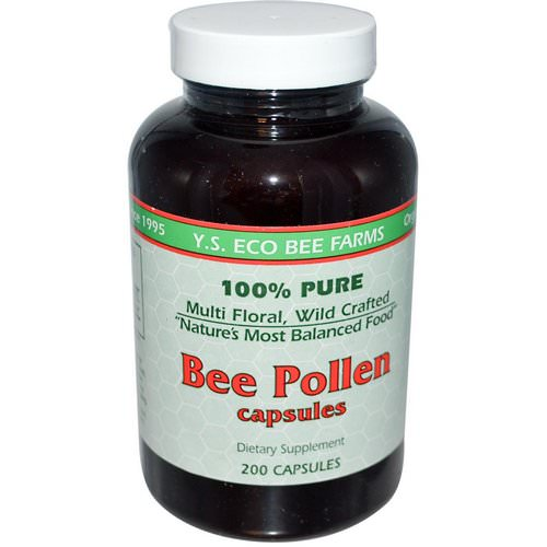 Y.S. Eco Bee Farms, Bee Pollen, 200 Capsules Review