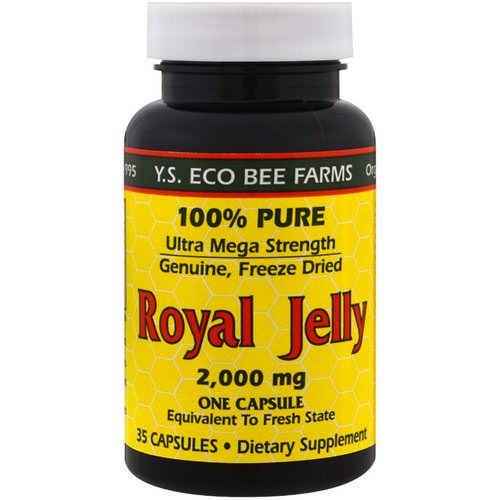 Y.S. Eco Bee Farms, Royal Jelly, 2,000 mg, 35 Capsules Review