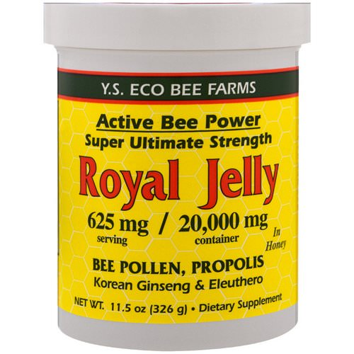 Y.S. Eco Bee Farms, Royal Jelly in Honey, 625 mg, 11.5 oz (326 g) Review