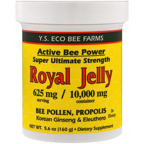 Y.S. Eco Bee Farms, Royal Jelly In Honey, 625 mg, 5.6 oz (160 g) Review