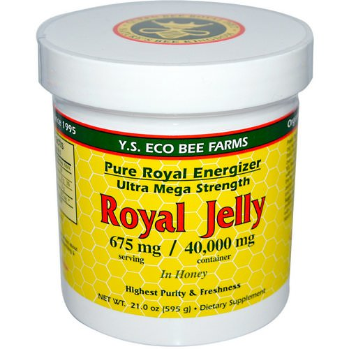 Y.S. Eco Bee Farms, Royal Jelly, in Honey, 675 mg, 1.3 lbs (595 g) Review