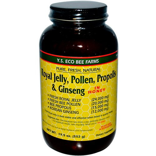 Y.S. Eco Bee Farms, Royal Jelly, Pollen, Propolis & Ginseng in Honey, 1.2 lbs (552 g) Review
