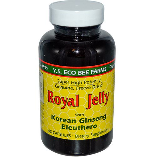 Y.S. Eco Bee Farms, Royal Jelly, with Korean Ginseng Eleuthero, 65 Capsules Review