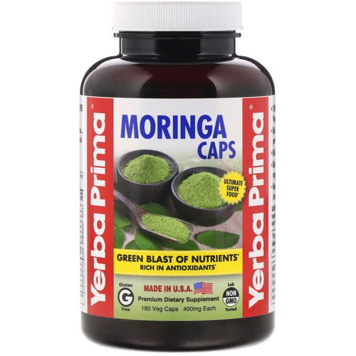 Yerba Prima, Moringa Caps, 400 mg, 180 Veg Caps Review