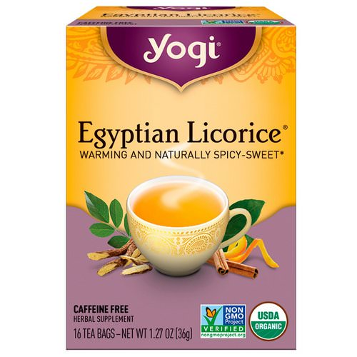 Yogi Tea, Egyptian Licorice, Caffeine Free, 16 Tea Bags, 1.27 oz (36 g) Review