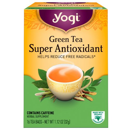Yogi Tea, Green Tea Super Antioxidant, 16 Tea Bags, 1.12 oz (32 g) Review