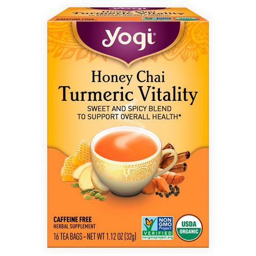 Yogi Tea, Honey Chai, Turmeric Vitality, 16 Tea Bags, 1.12 oz (32 g) Review