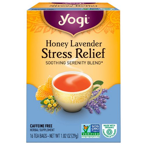 Yogi Tea, Organic, Honey Lavender Stress Relief, Caffeine Free, 16 Tea Bags, 1.02 oz (29 g) Review