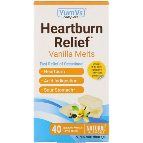 YumV's, Heartburn Relief, Vanilla Melts, 40 Melts Review