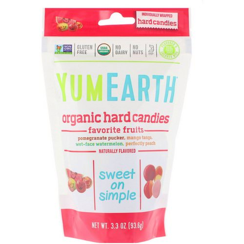 YumEarth, Organic Hard Candies, Favorite Fruits, 3.3 oz (93.6 g) Review