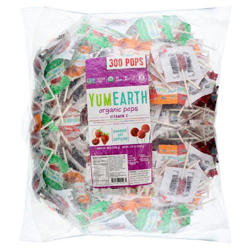 YumEarth, Organic Pops Vitamin C, 300 Pops, 5 lbs (2268 g) Review