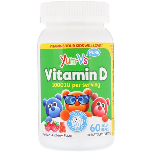 YumV's, Vitamin D, Delicious Raspberry Flavor, 1,000 IU, 60 Jelly Bears Review
