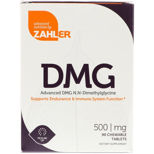 Zahler, DMG, Advanced DMG N, N-Dimethylglycine, 500 mg, 90 Chewable Tablets Review