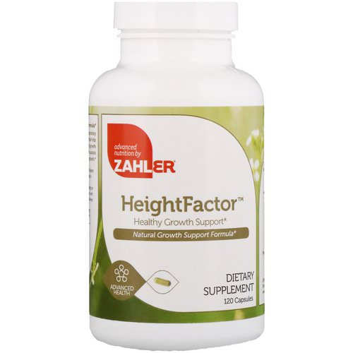 Zahler, Height Factor, Healthy Growth Support, 120 Capsules Review