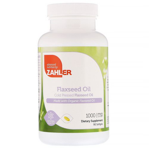 Zahler, Organic Flax Seed Oil, 1,000 mg, 90 Softgels Review
