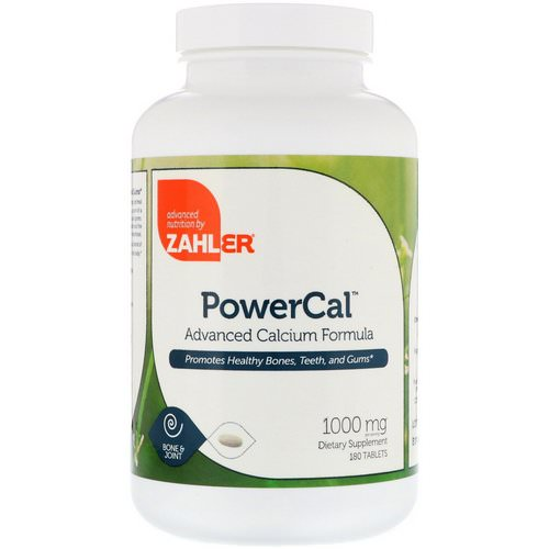 Zahler, PowerCal, Advanced Calcium Formula, 1000 mg, 180 Tablets Review
