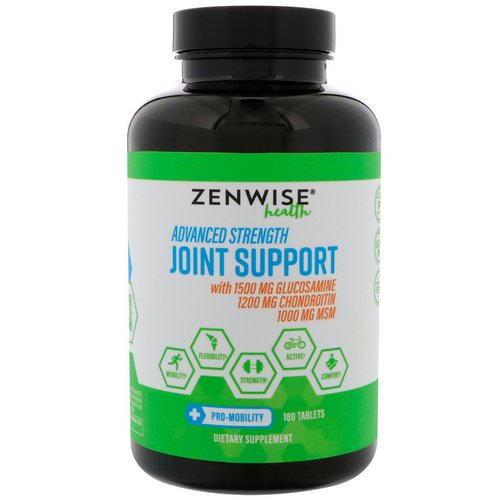 Zenwise Health, Advanced Strength Joint Support, 180 Tablets Review
