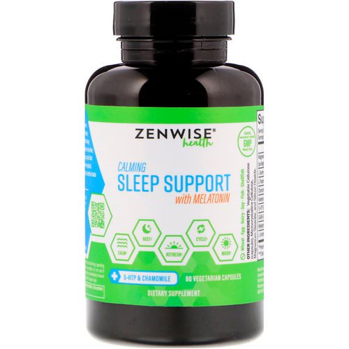 Zenwise Health, Calming Sleep Support With Melatonin, 60 Vegetarian Capsules Review