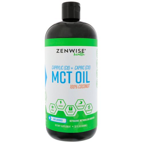 Zenwise Health, Caprylic (C8) + Capric (C10) MCT Oil, 100% Coconut, Unflavored, 32 fl oz (946 ml) Review