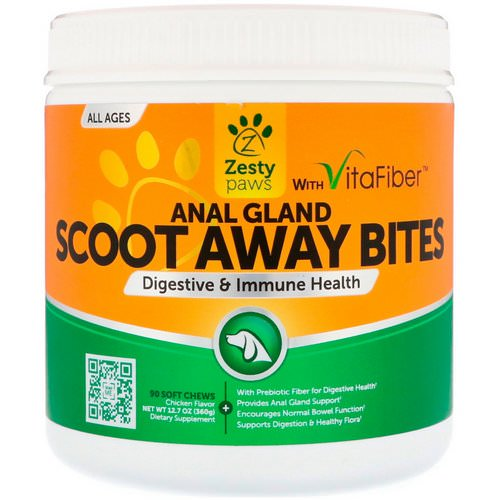 Zesty Paws, Scoot Away Bites, Digestive & Immune Health, for Dogs, All Ages, Chicken Flavor, 90 Soft Chews Review